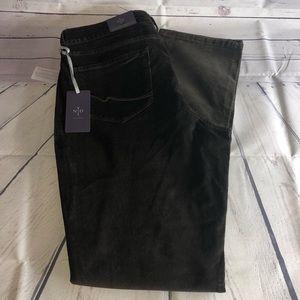 NYDJ Slim Straight Brown Corduroy Jeans Size 14